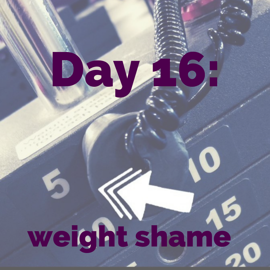 Day 16 – Exercise challenge: (starting) weight shame